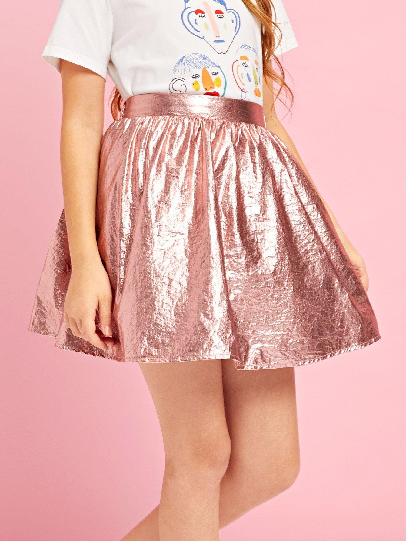Купить Девушки A-Line Нейлоновая юбка, Sashab, SheIn
