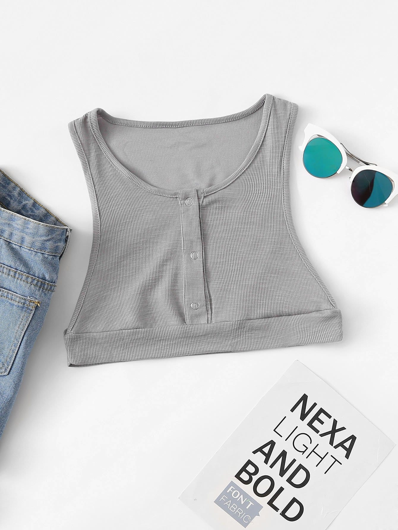 Кнопка Front Crop Shell Solid Top