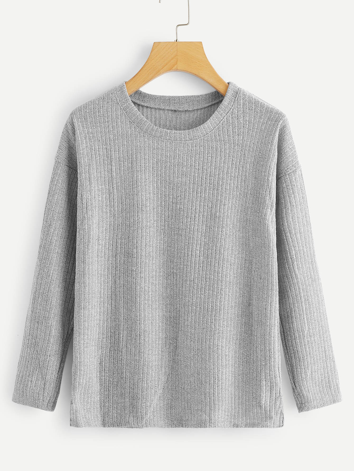 Round Neck Ribbed Tee