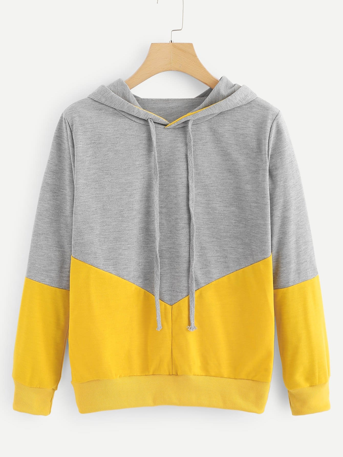 Cut And Sew Hooded Sweatshirt