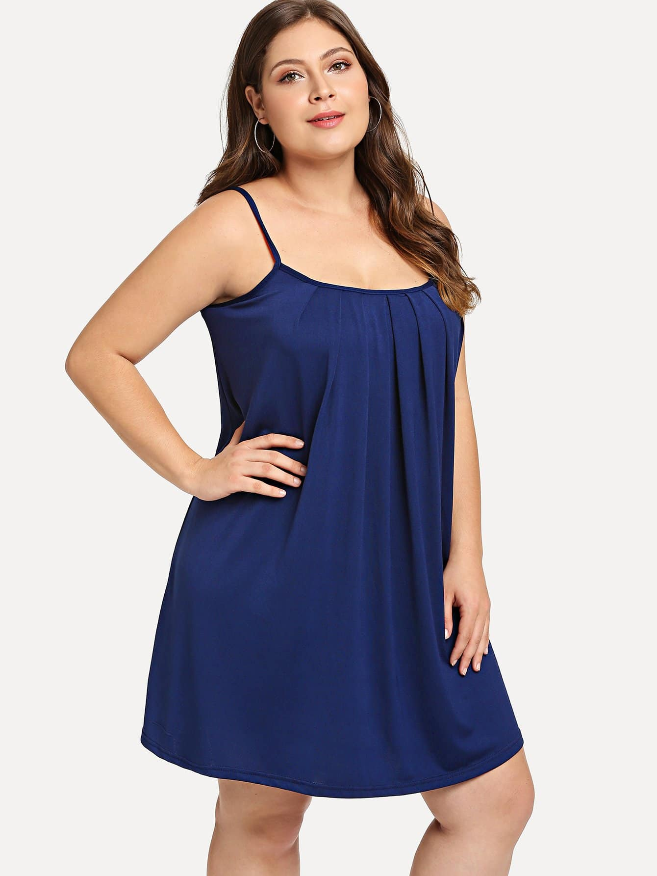 Купить Большое простое платье на бретелях, Carol, SheIn