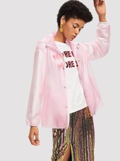 Transparent Hooded Jacket