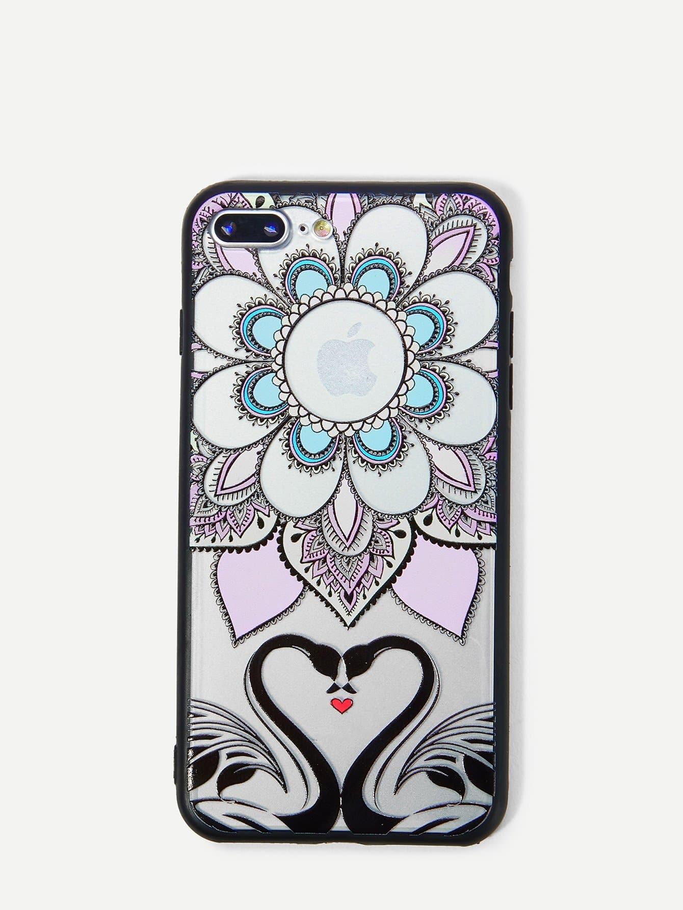 Купить Корпус сотового телефона с рисунками кактуса и лебедя для iPhone, null, SheIn