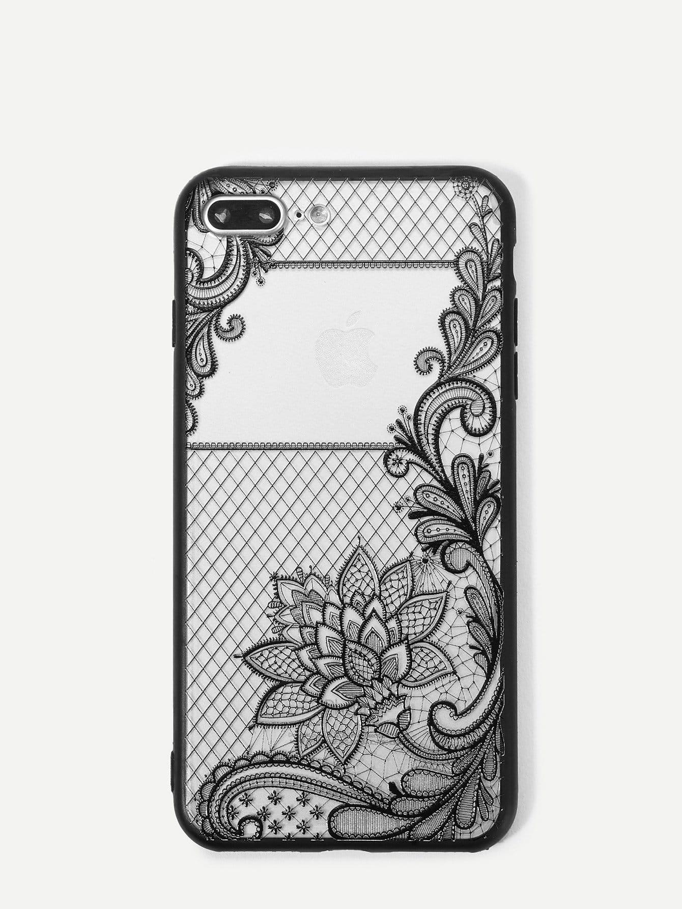 Купить Корпус сотового телефона с рисунком кактуса для iPhone, null, SheIn