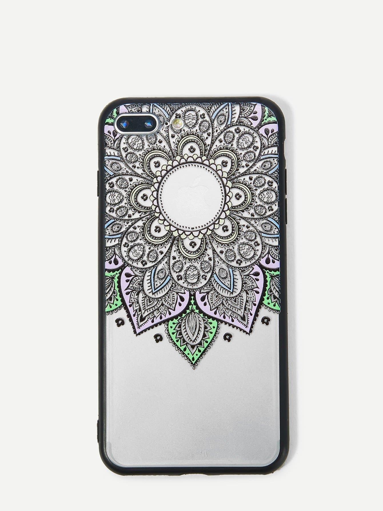 Купить Корпус сотового телефона с рисунком ажурного кактуса для iPhone, null, SheIn