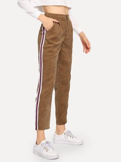Striped Tape Side Cord Pants