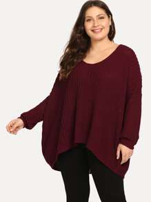 Shoulder | Sweater | High | Plus | Low