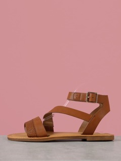 Perforated Band Sandals