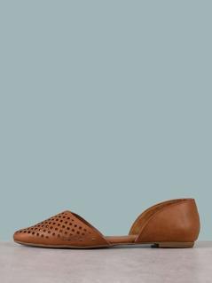 Pointy Toe Dorsay Ballet Flats