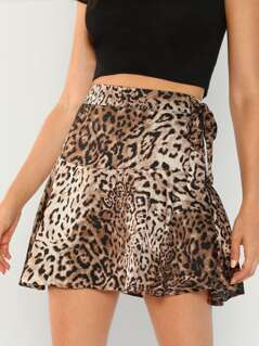 Leopard Flared Mini Skirt
