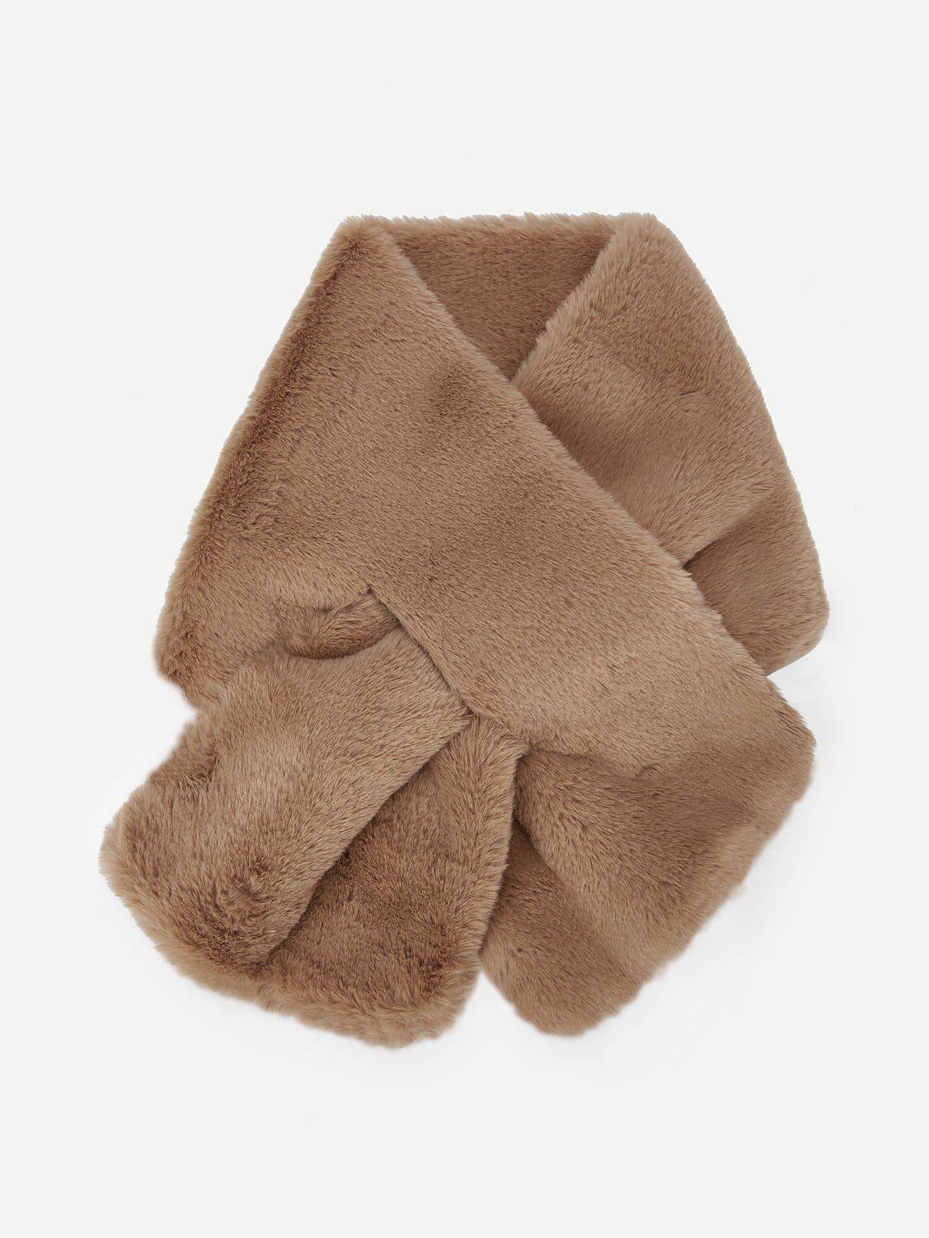 Купить Tippet шарф из искусственных кож, null, SheIn