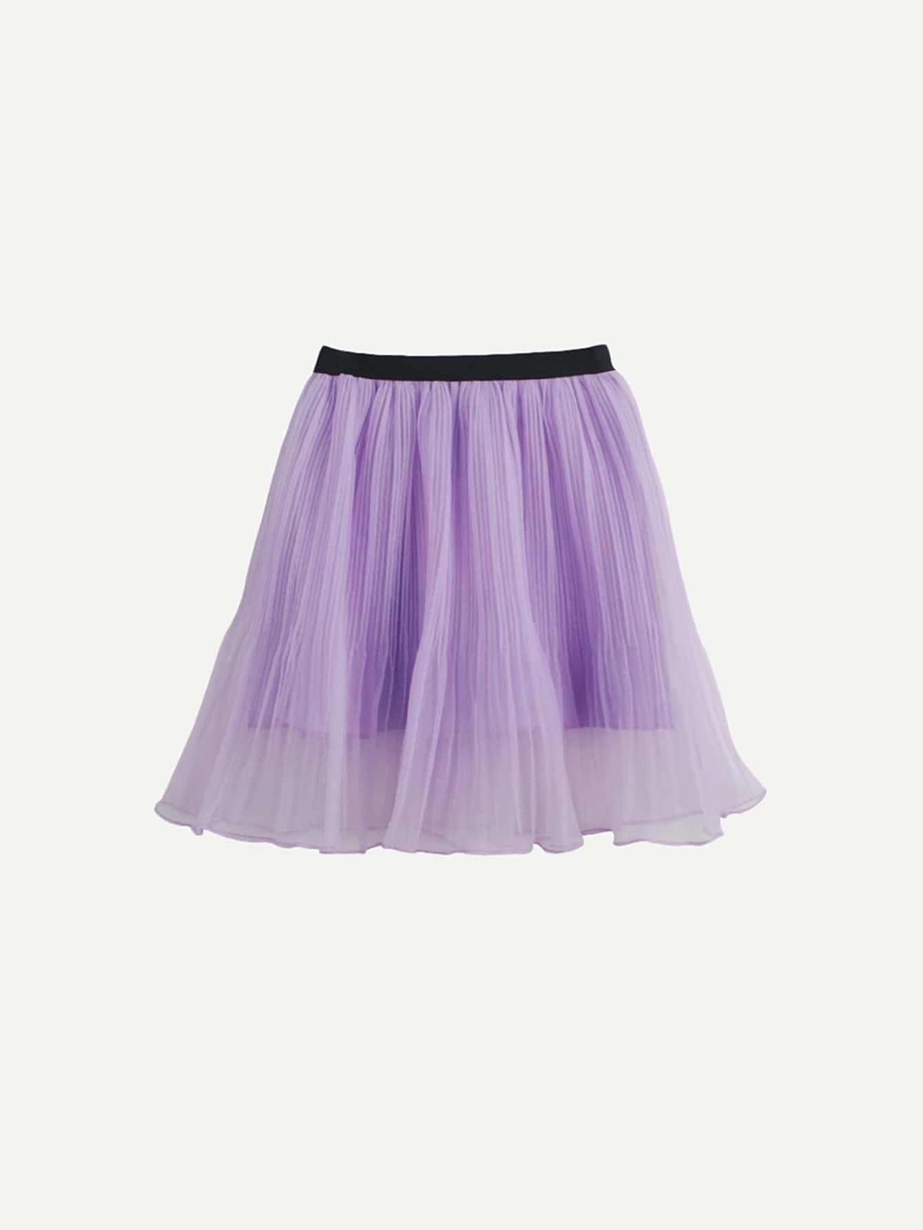 Купить Плиссированная юбка для девочки, null, SheIn