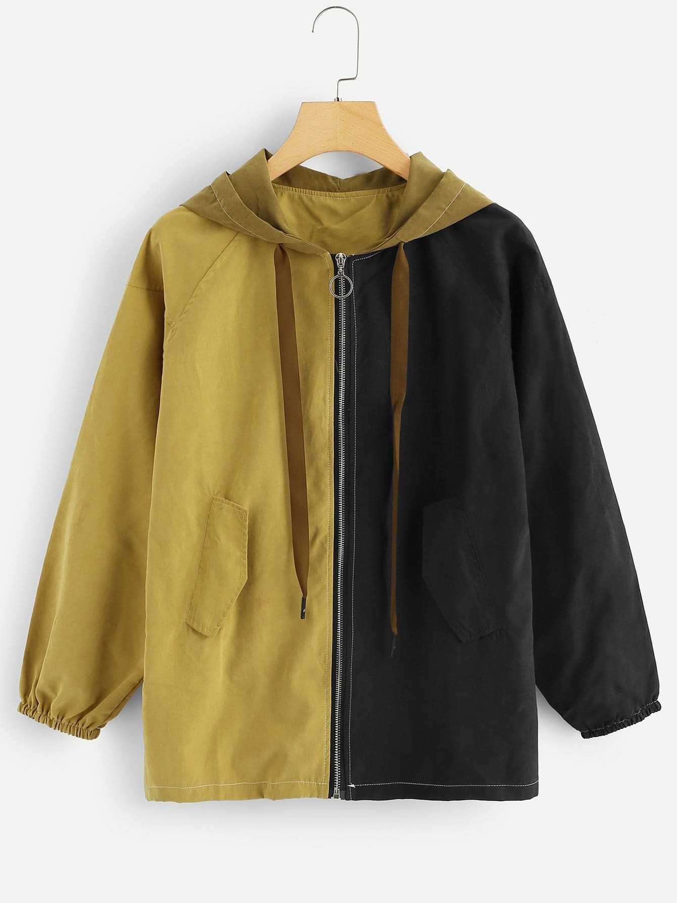 Cut And Sew Panne Hooded Jacket