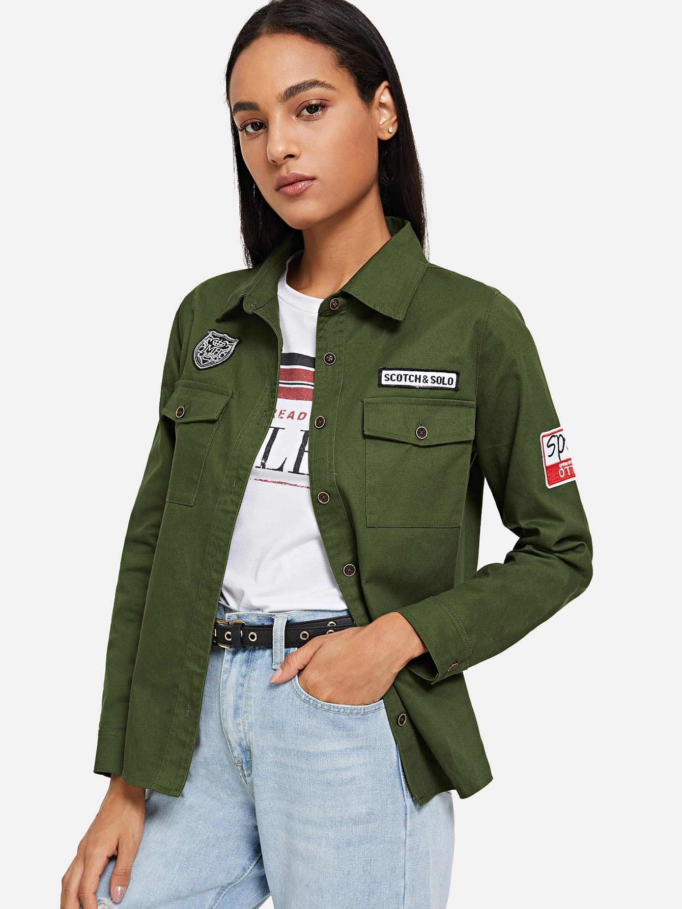 Dual Pocket Patched Jacket