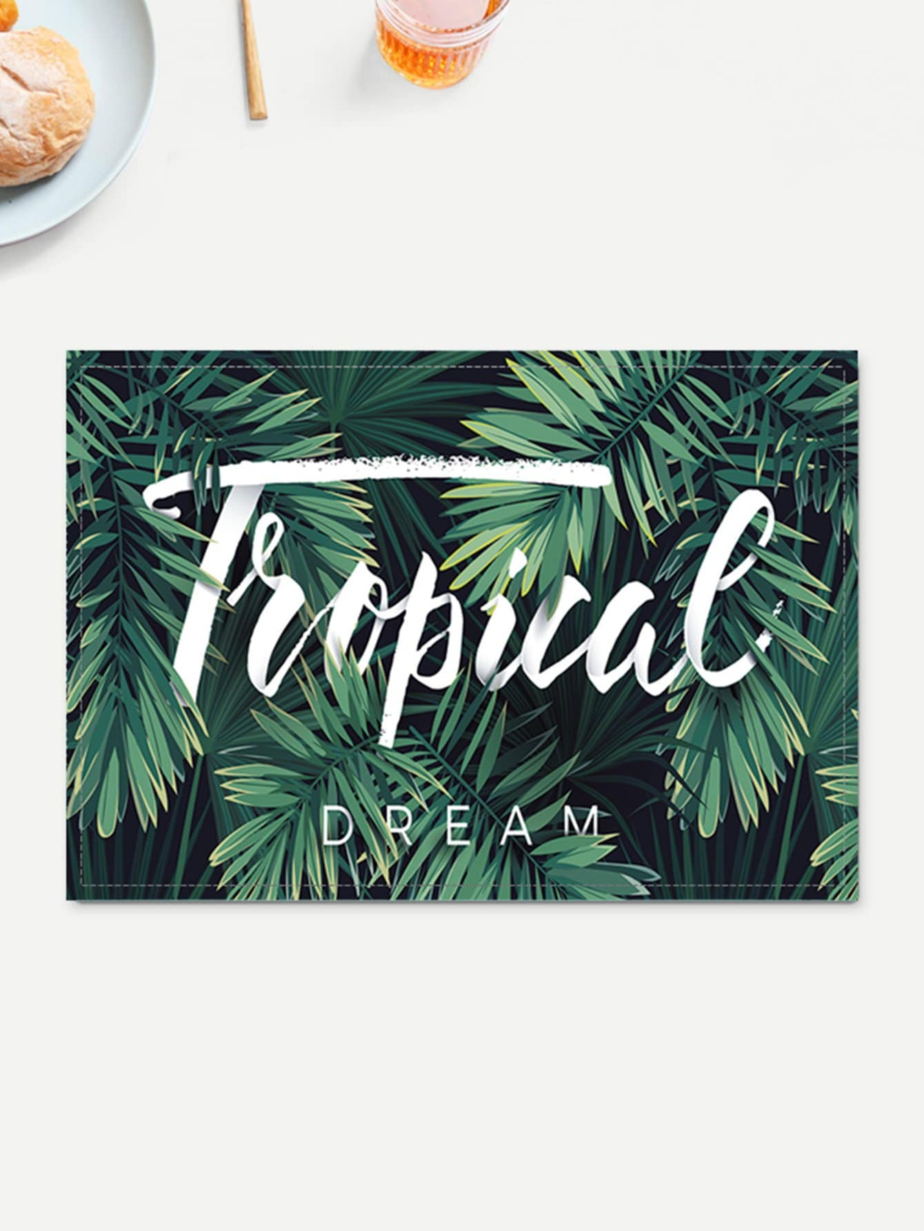 Tropical Leaf Pattern Placemat