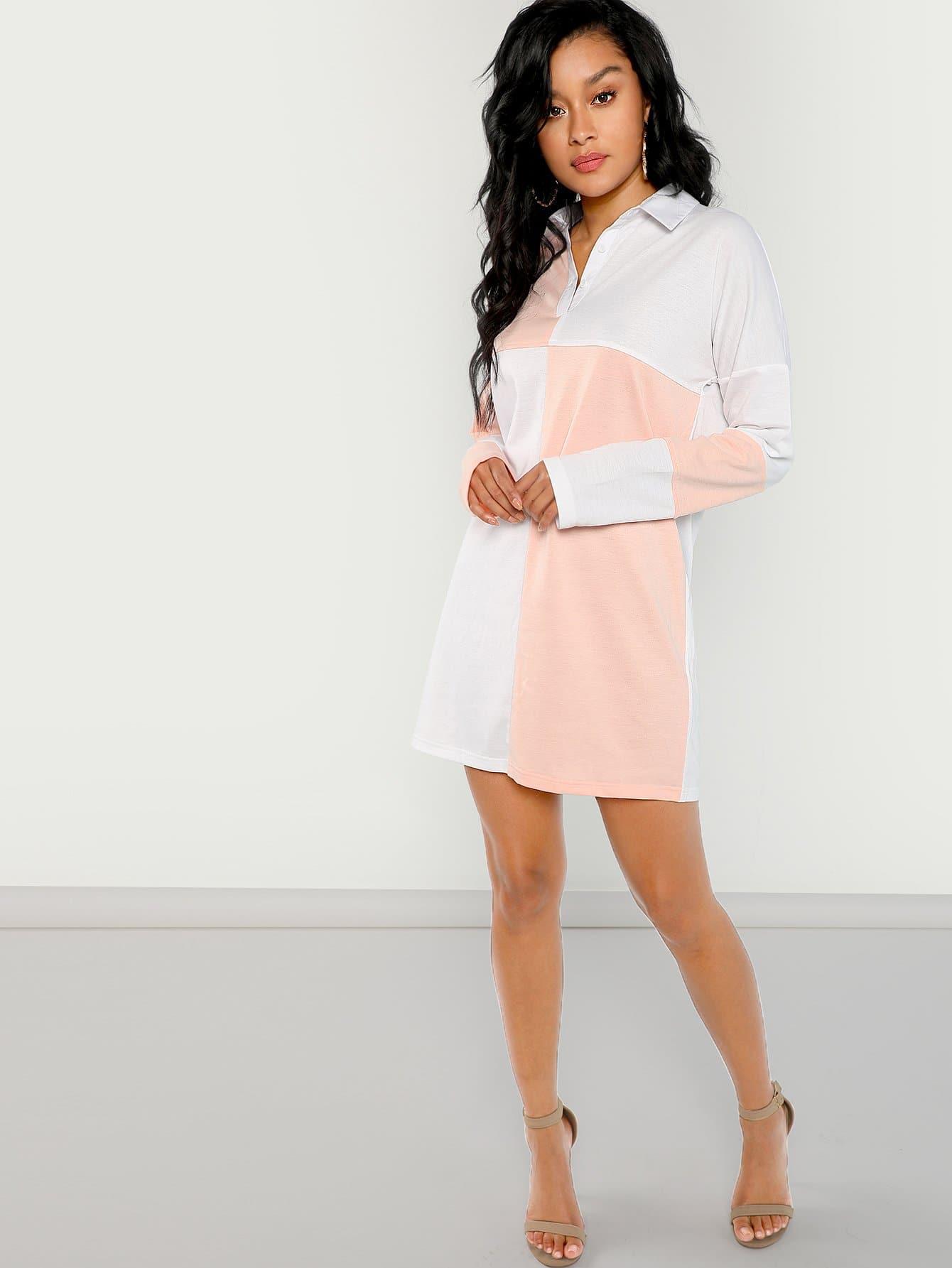 Купить Вырезать и вышивать поло платье, Araya Nicks, SheIn