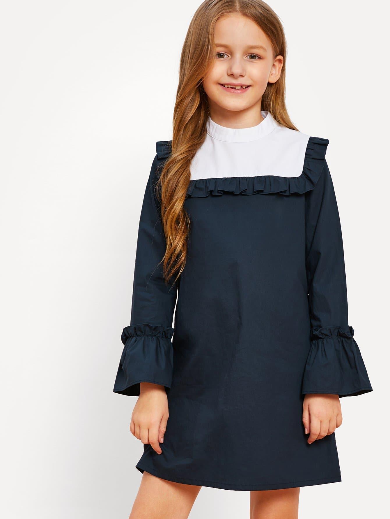 Купить Платье для девочек с трусиками для девочек, Sashab, SheIn
