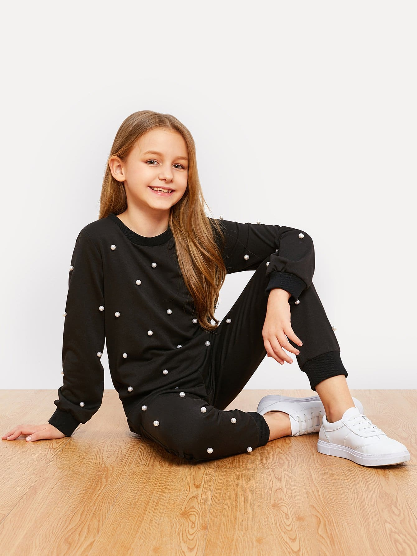 Girls Pearl Beaded Top & Pants Set фигурка героя мультфильма oem 1piece 12 30 6 baymax baymax 6 4902