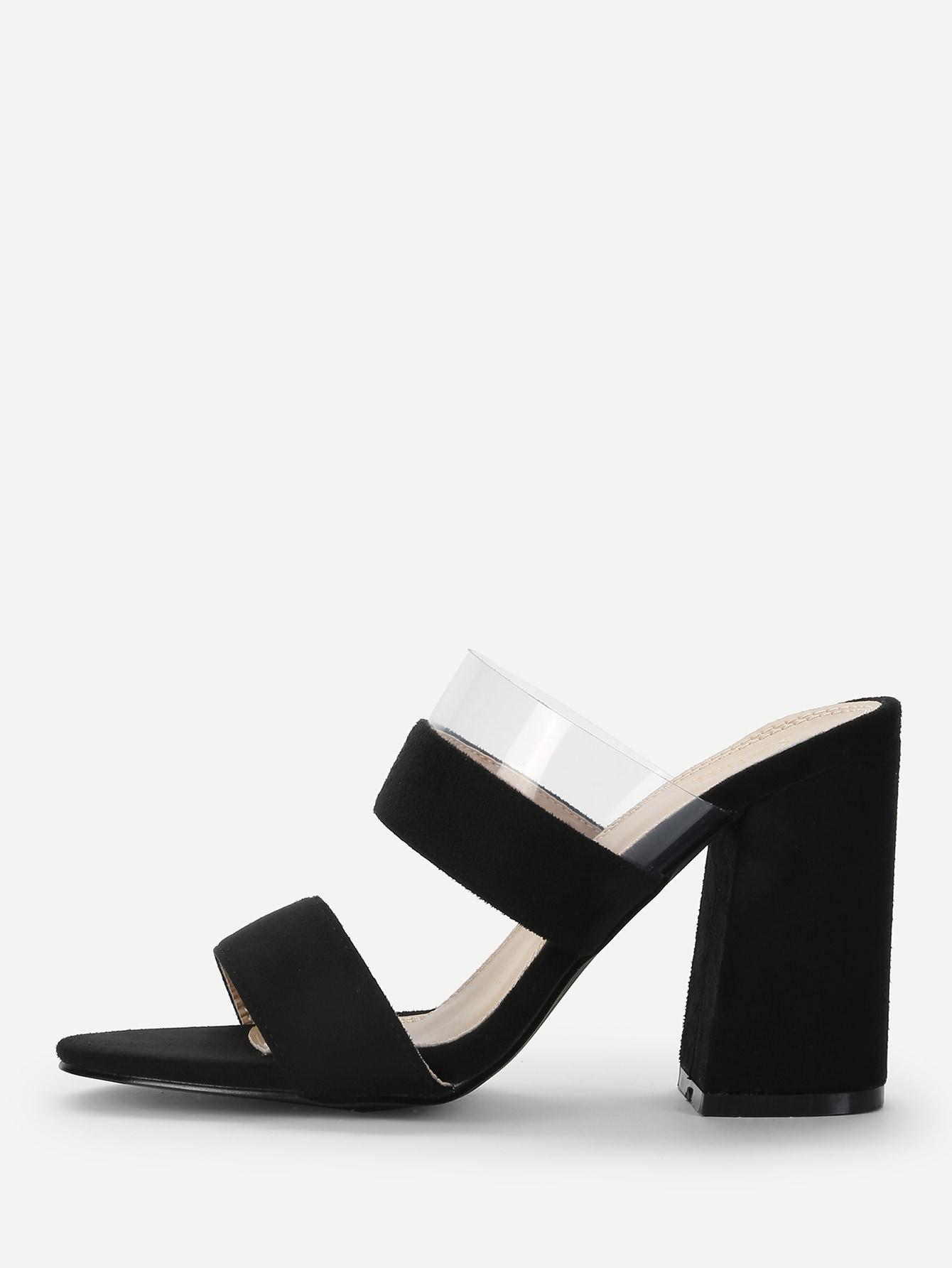 Купить Прозрачные туфли на высоких каблуках и с открытой пальцев ноги, null, SheIn