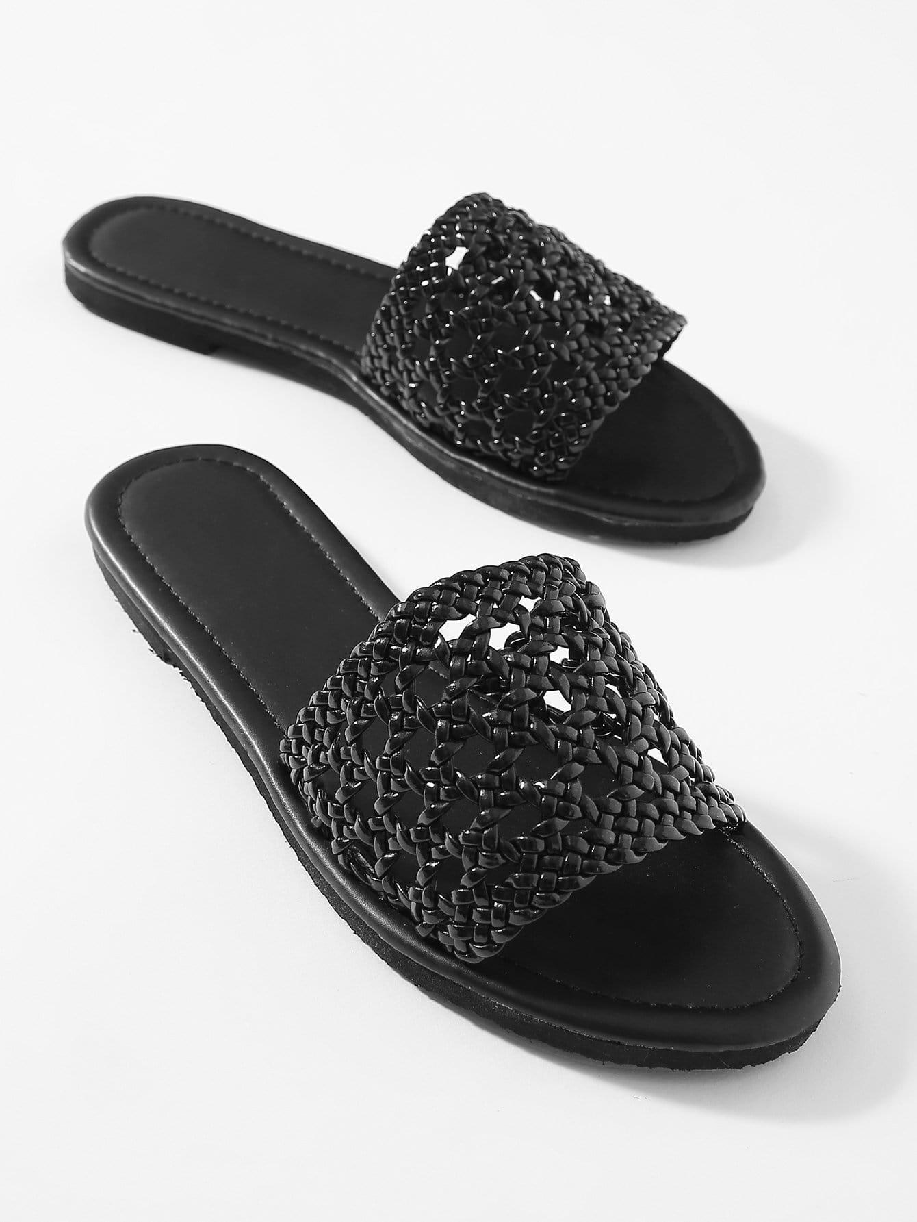 Gewebte Einfache Slide Sandalen