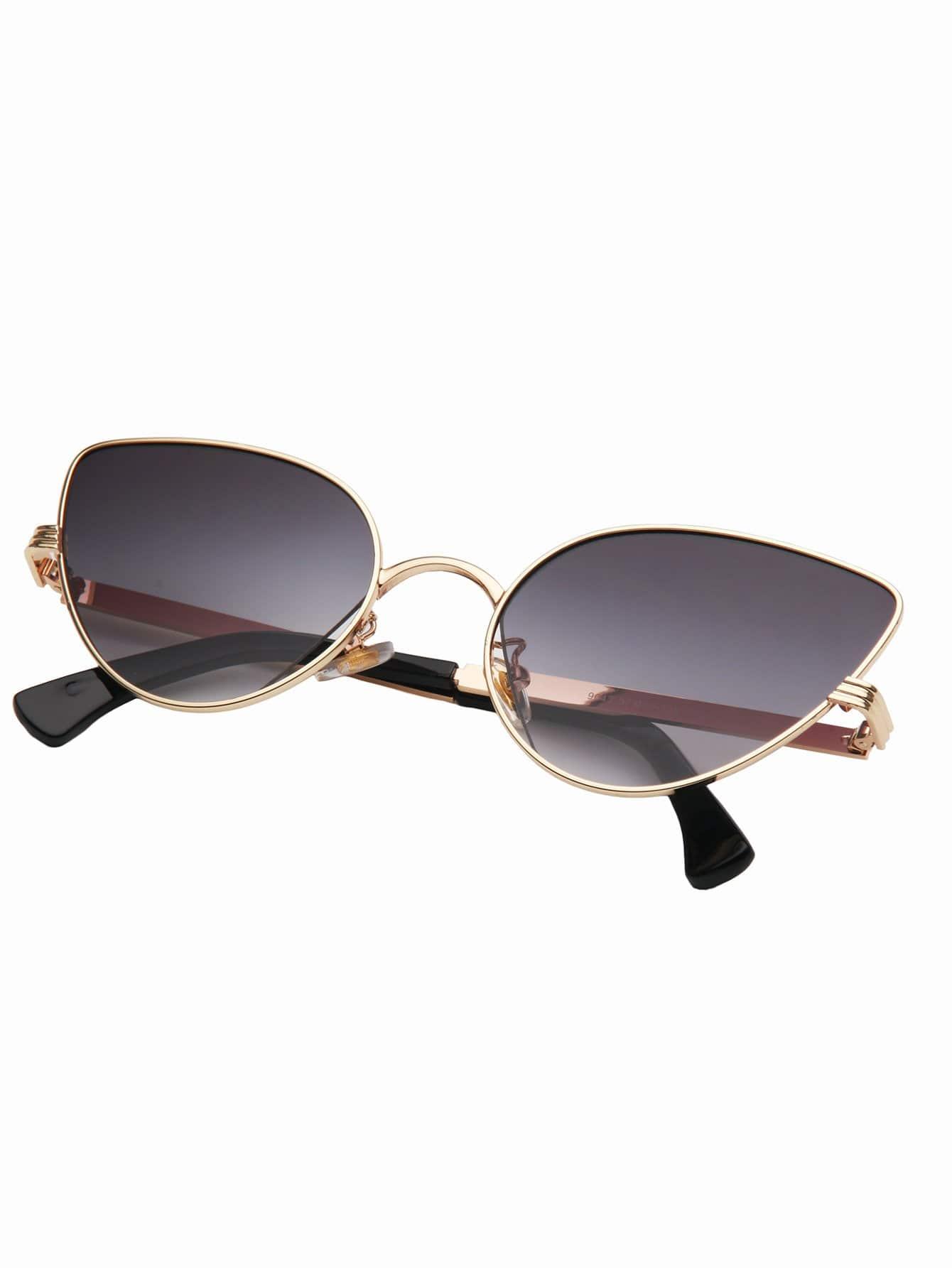 Cat Eye Metal Frame Sunglasses