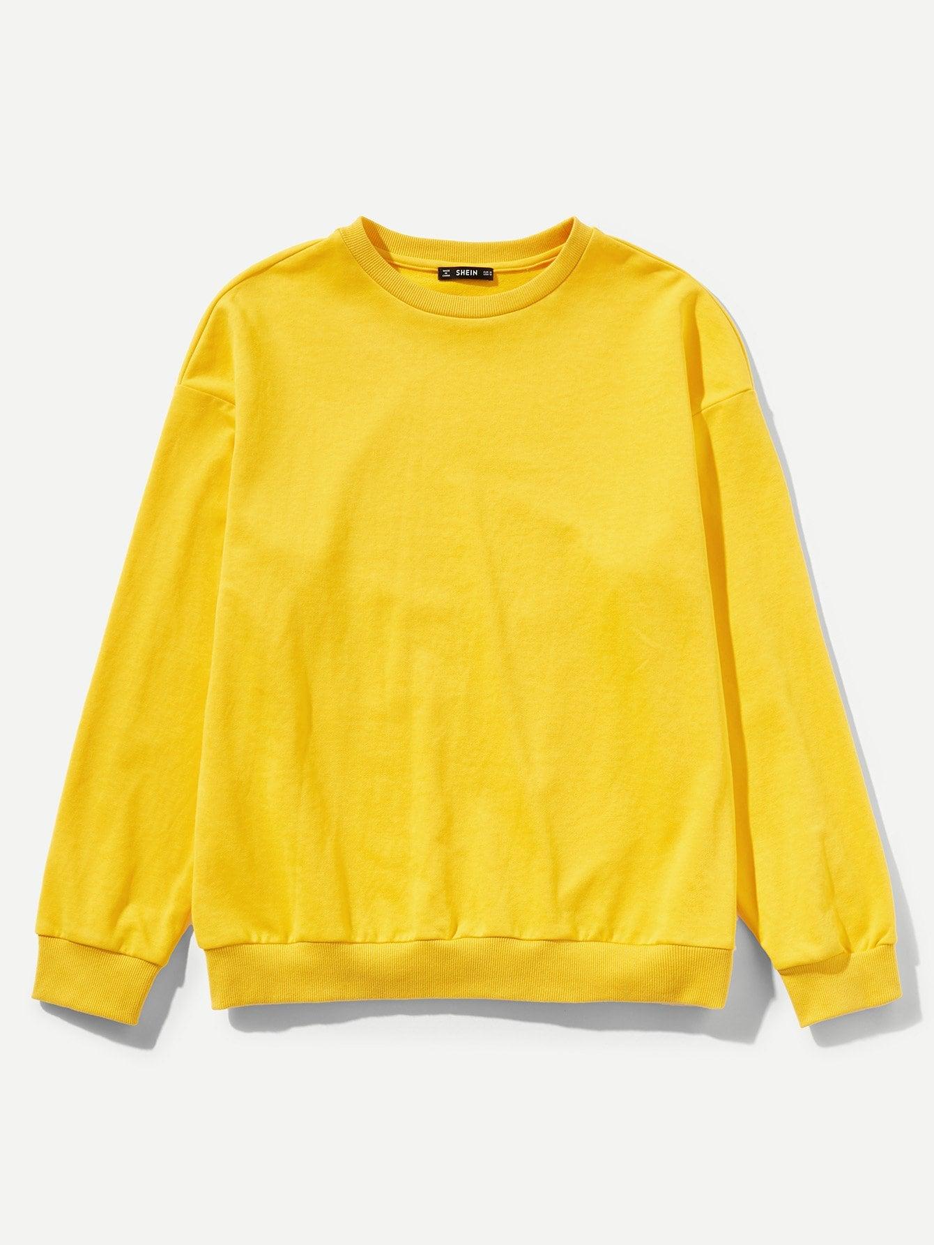 Купить Простой длинный пуловер для мужчины, null, SheIn