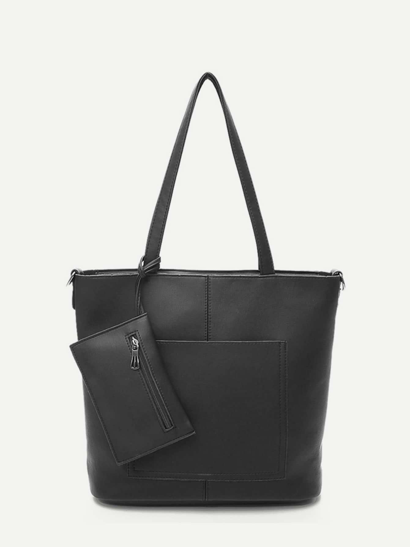 Купить Кожаная сумочка и кошелёк 3 шт, null, SheIn