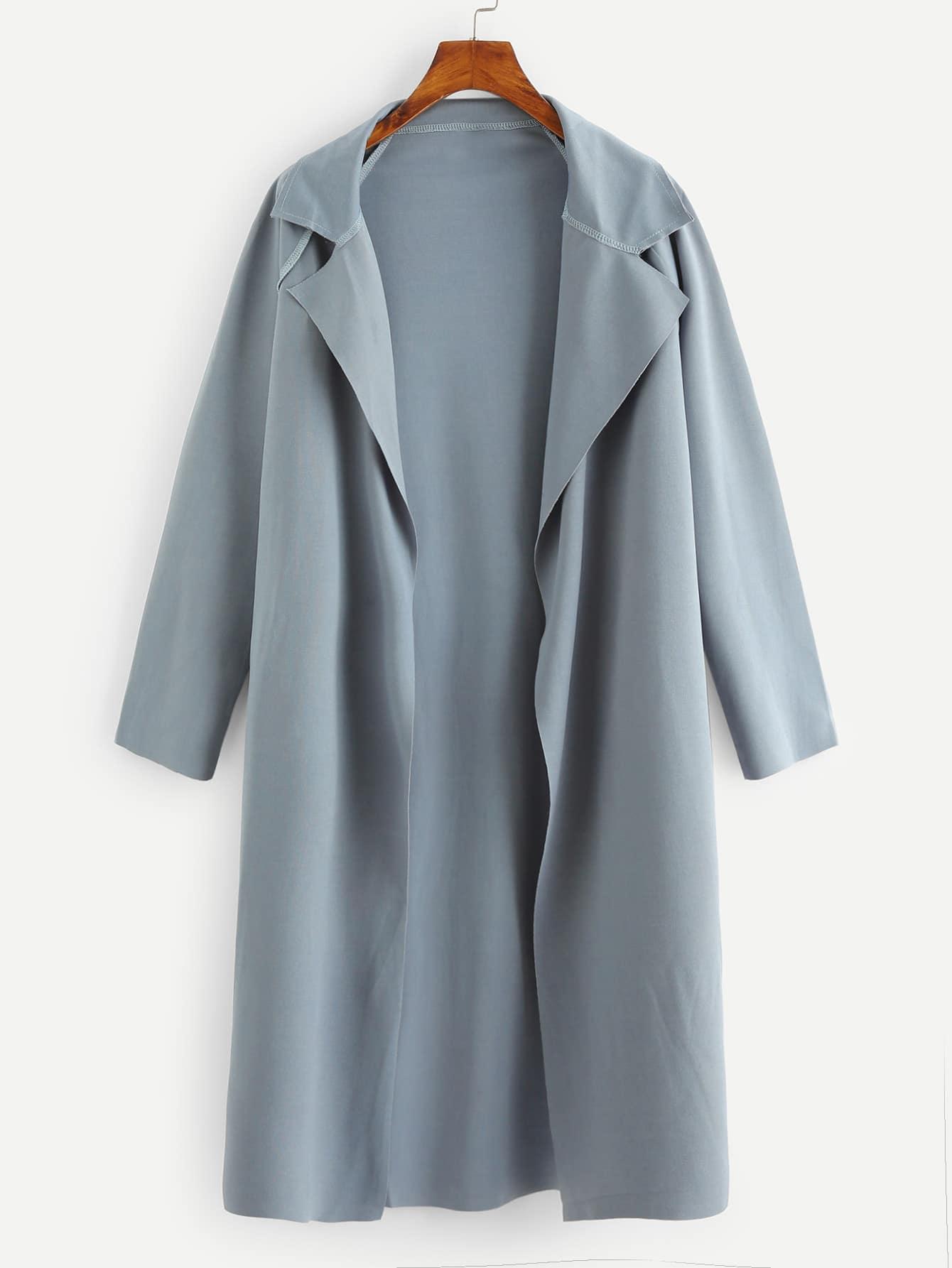 Купить Пальто с отложным воротником и с рукавами-регланами, null, SheIn