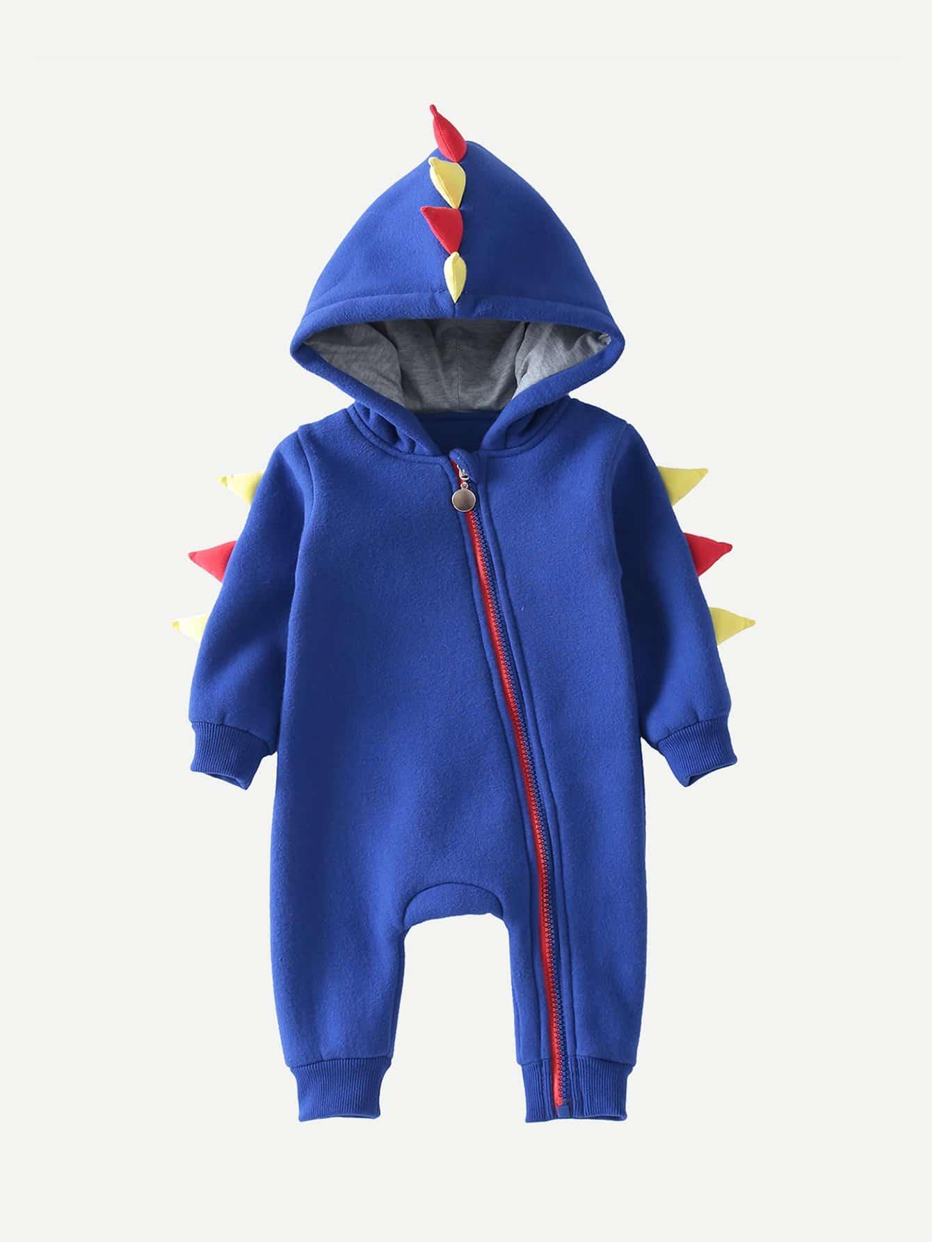 Girls Zip Hooded Jumpsuit