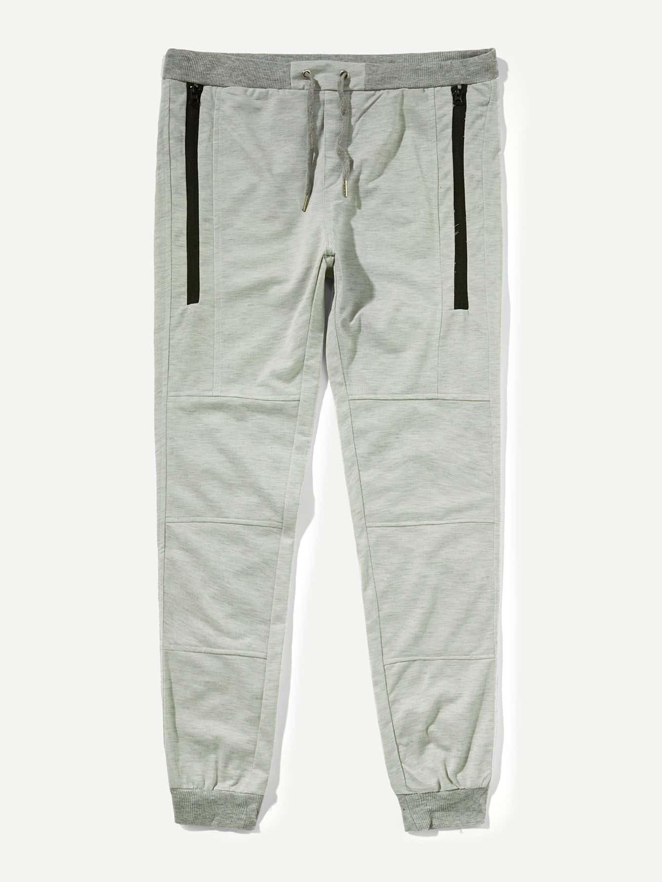 Купить Полотняняые брюки с басоном эластичным для мужчины, null, SheIn