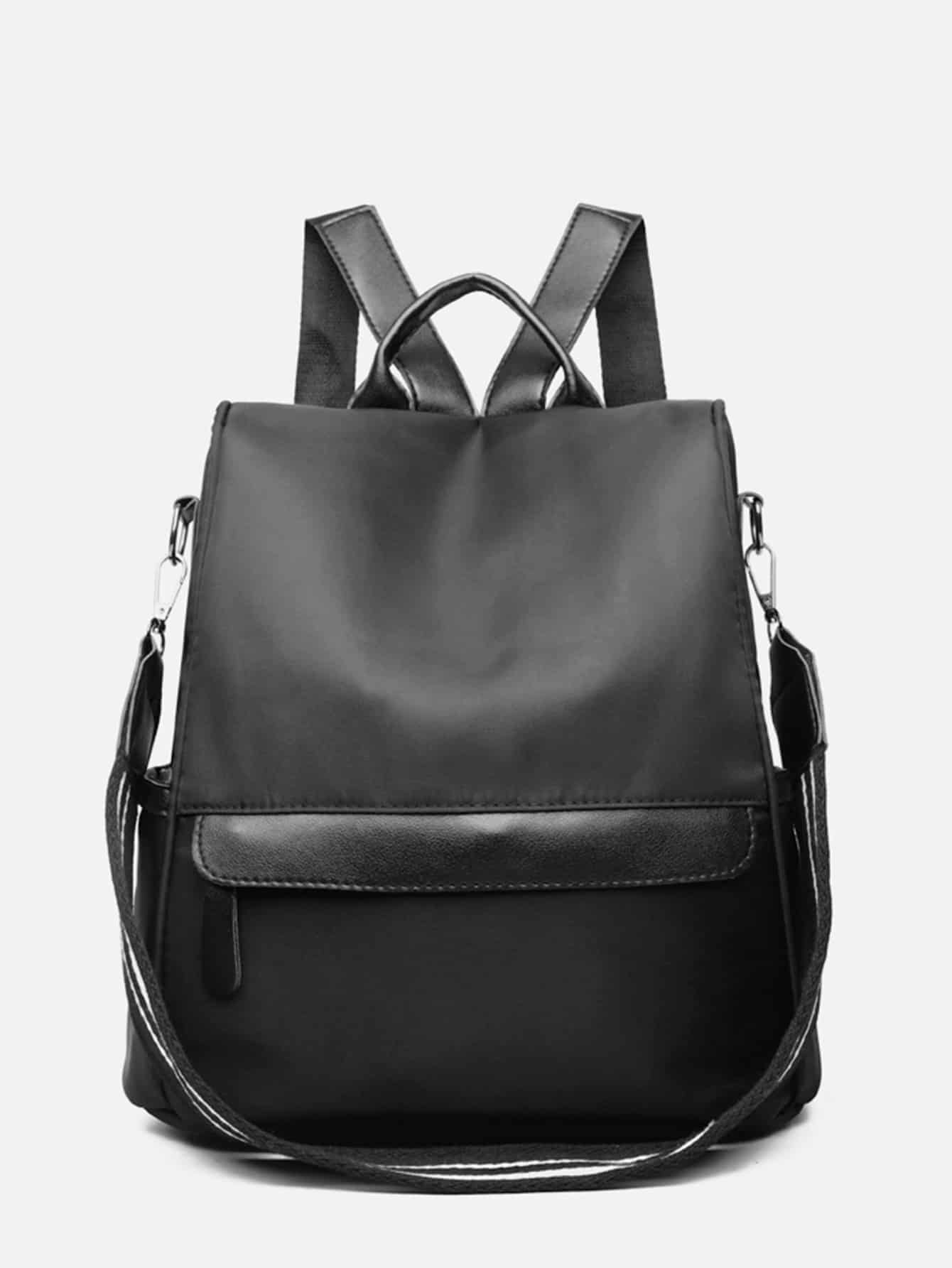Pocket Front Square Backpack