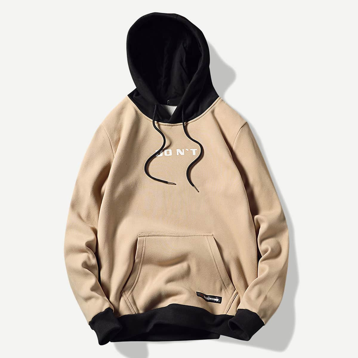 Khaki Casual Koord Tekst Sweatshirts voor heren