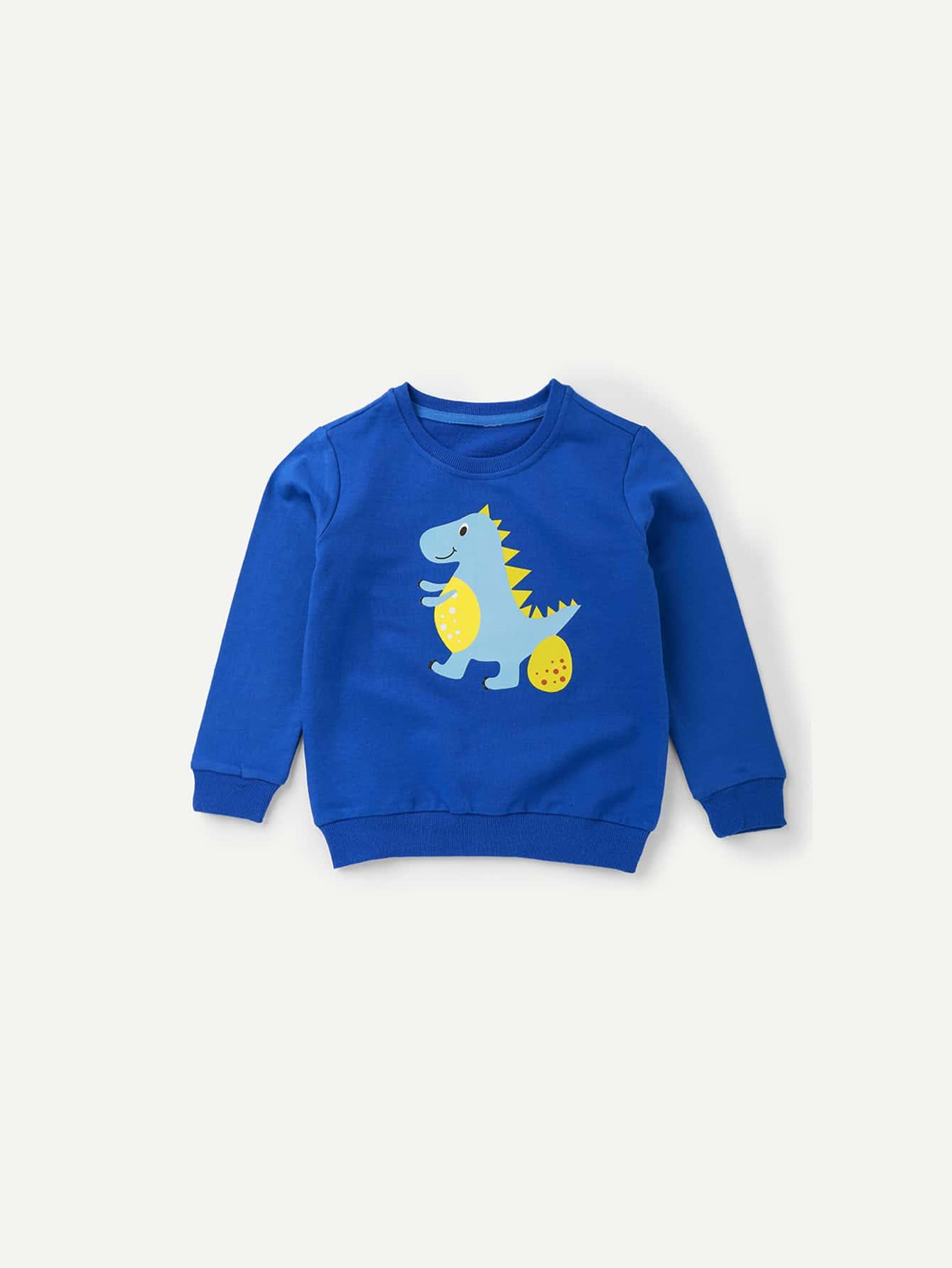 Boys Dinosaur Print Sweatshirt