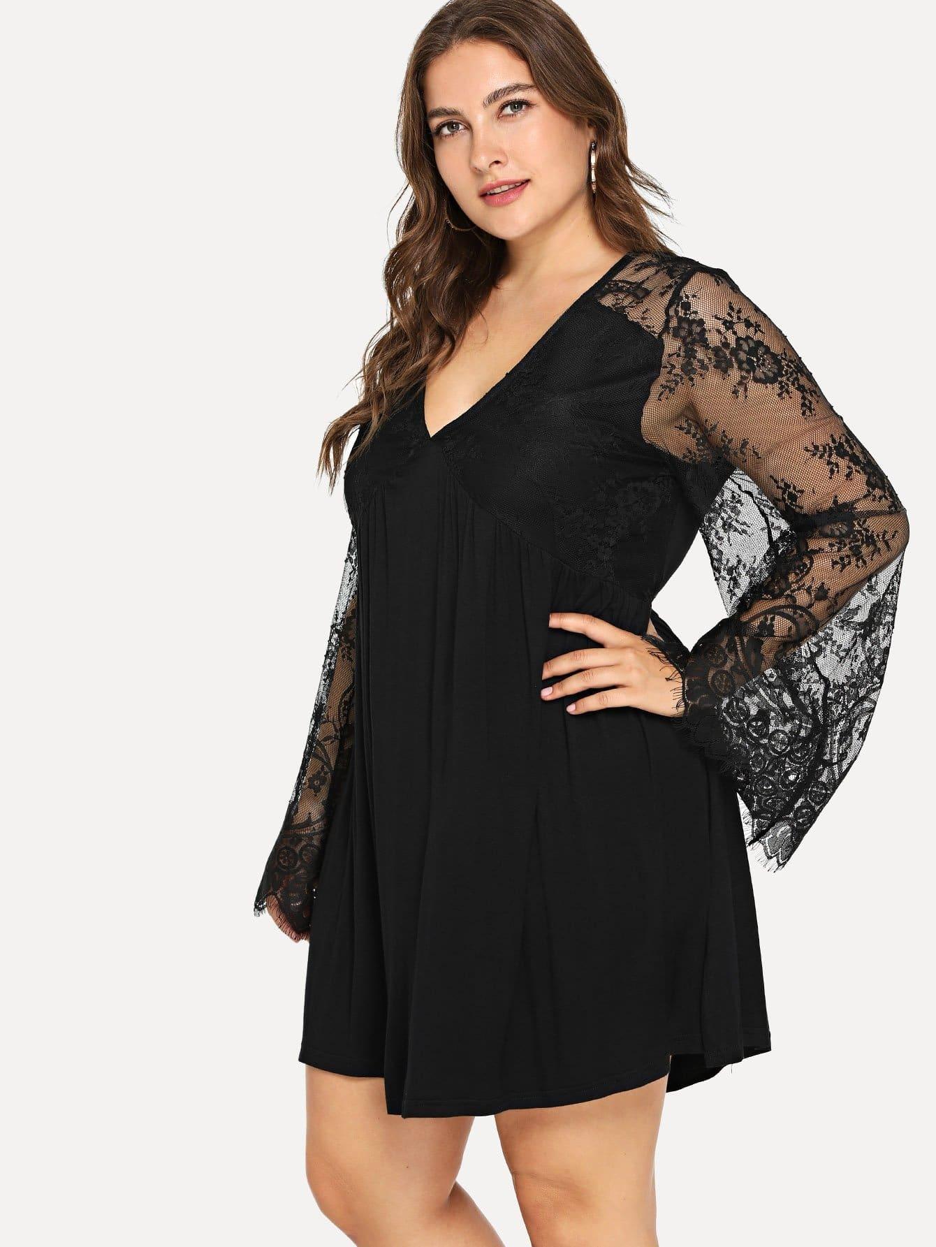 Купить Большая кружевная рубашка Bodice и с украшением вышивки, Franziska, SheIn