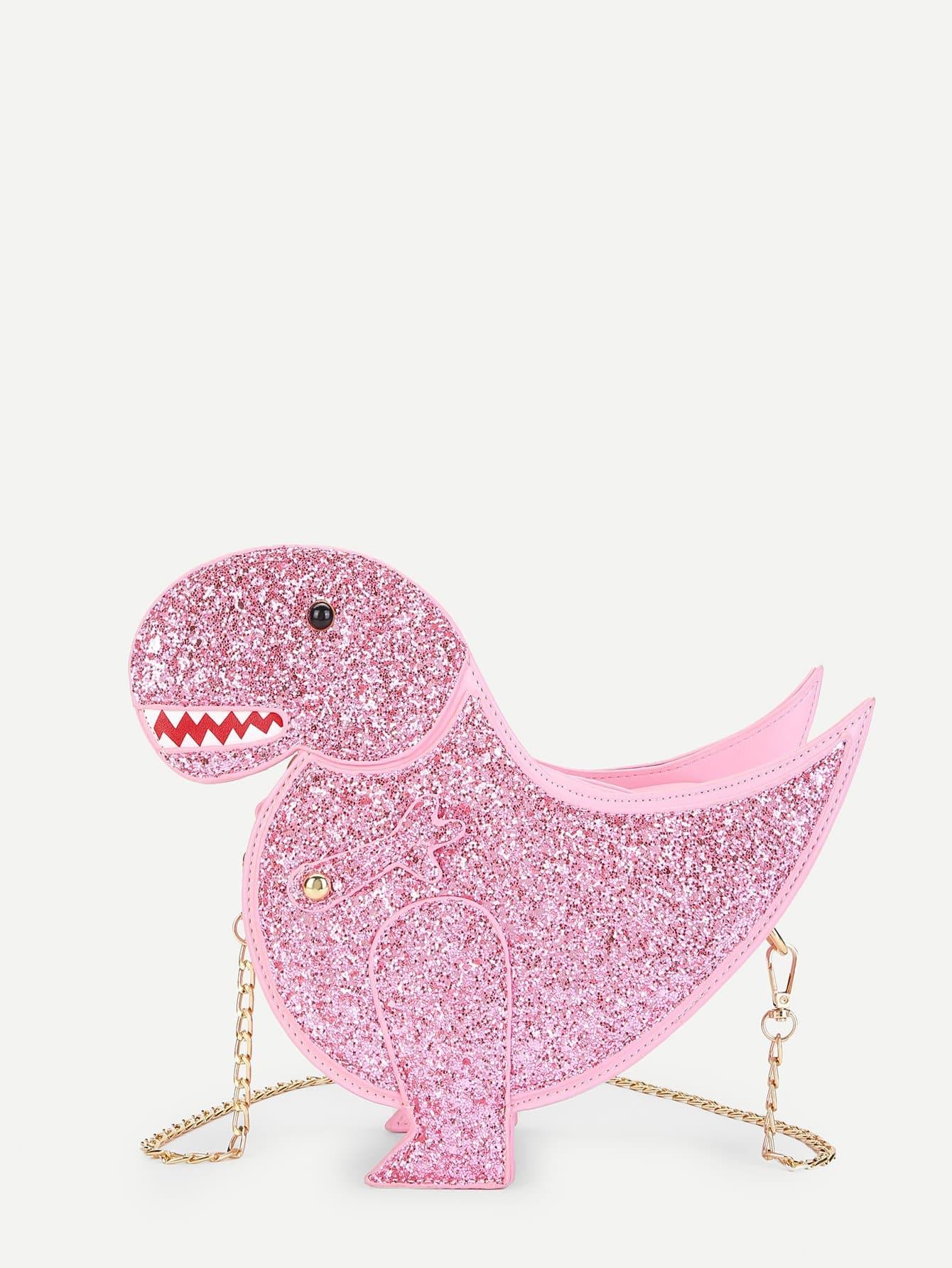 Animal Shaped Glitter Chain Bag