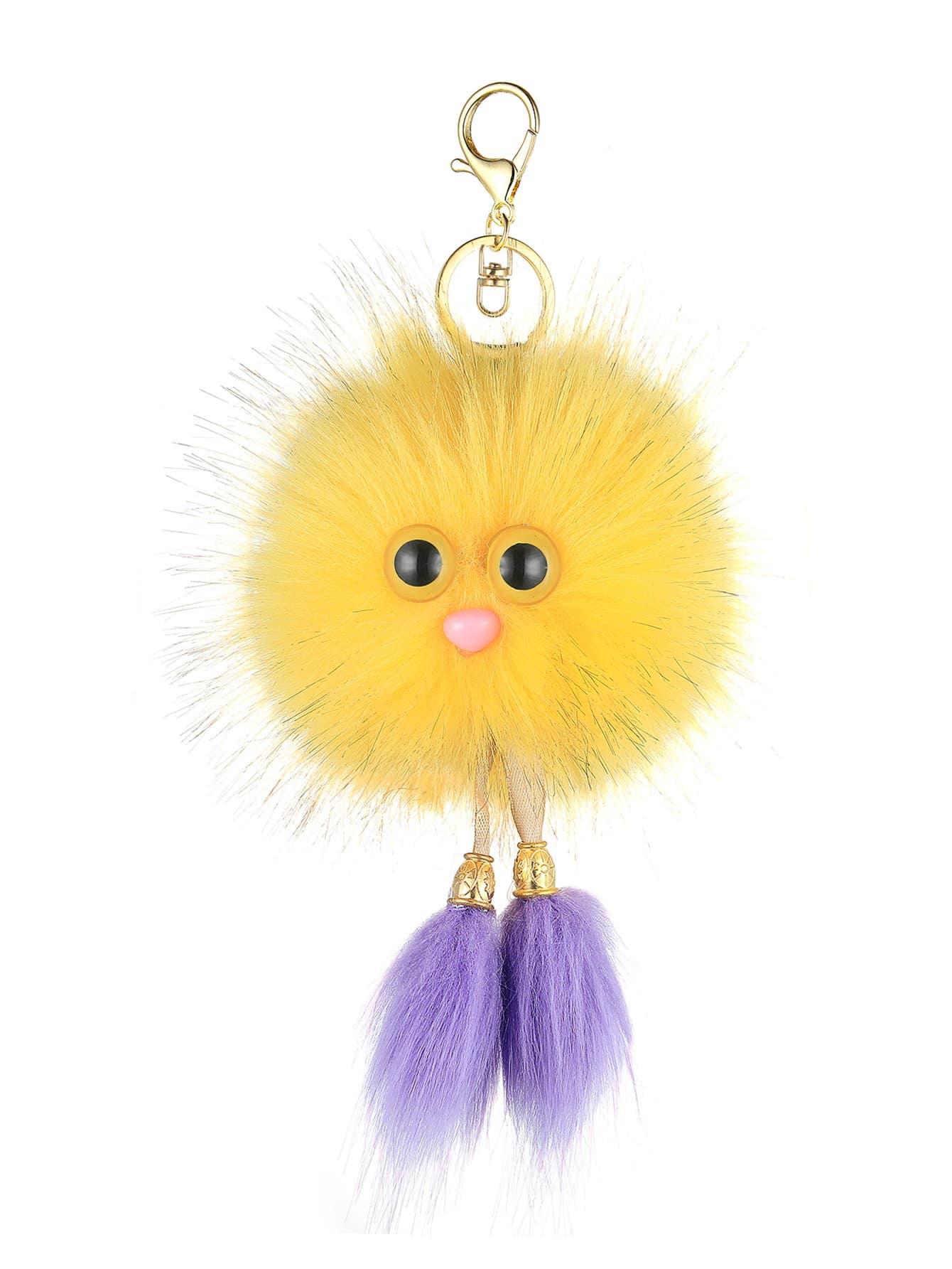 Купить Брелок для ключей с украшением помпона в форме лица птицы, null, SheIn