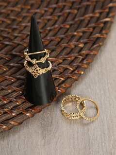 Gold Five Ring Set