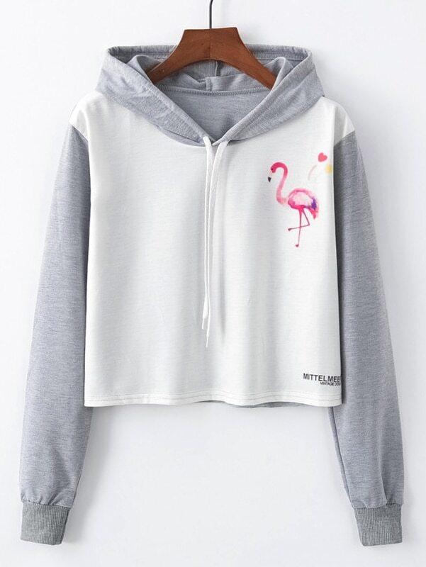 Купить Повседневный Животный принт на кулиске Пуловеры Белый Свитшоты, null, SheIn