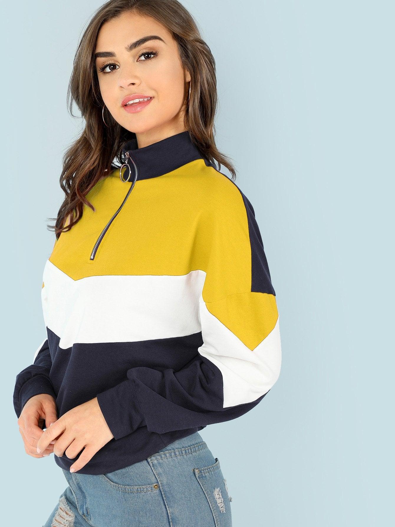 O-Ring Zip Front Cut и Sew Sweatshirt