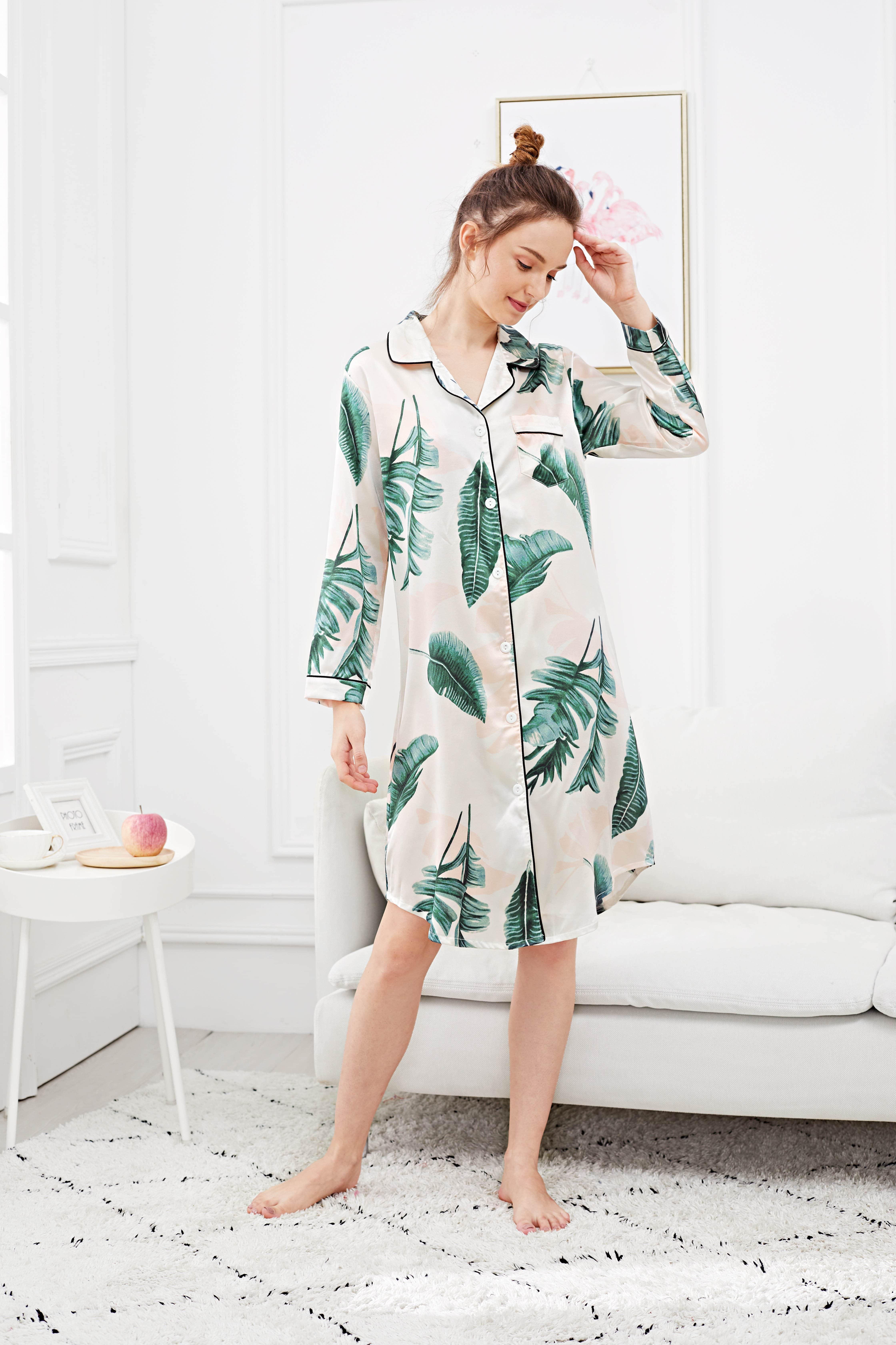 Купить Платье футболки с рисунками пальм, Tory, SheIn