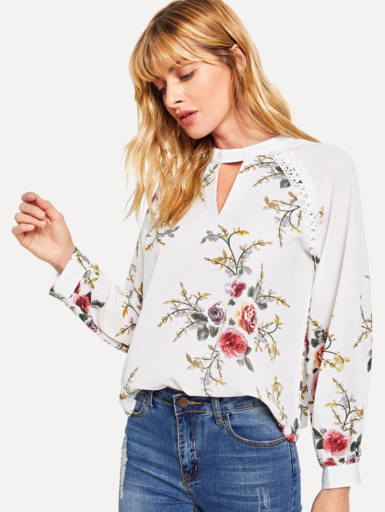 Купить Ситцевая кроп-рубашка, Masha, SheIn