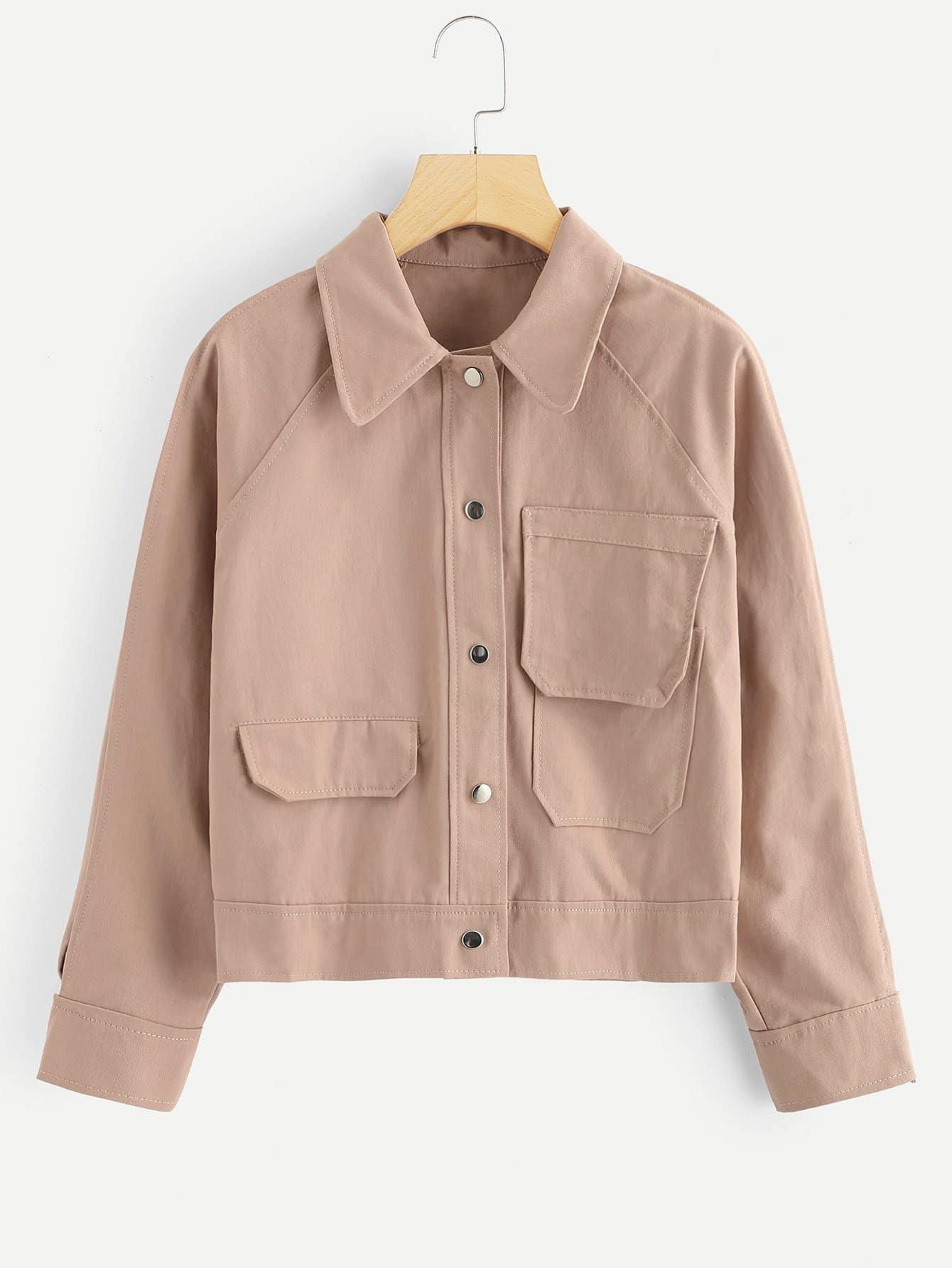 Reiner Mantel mit Taschen