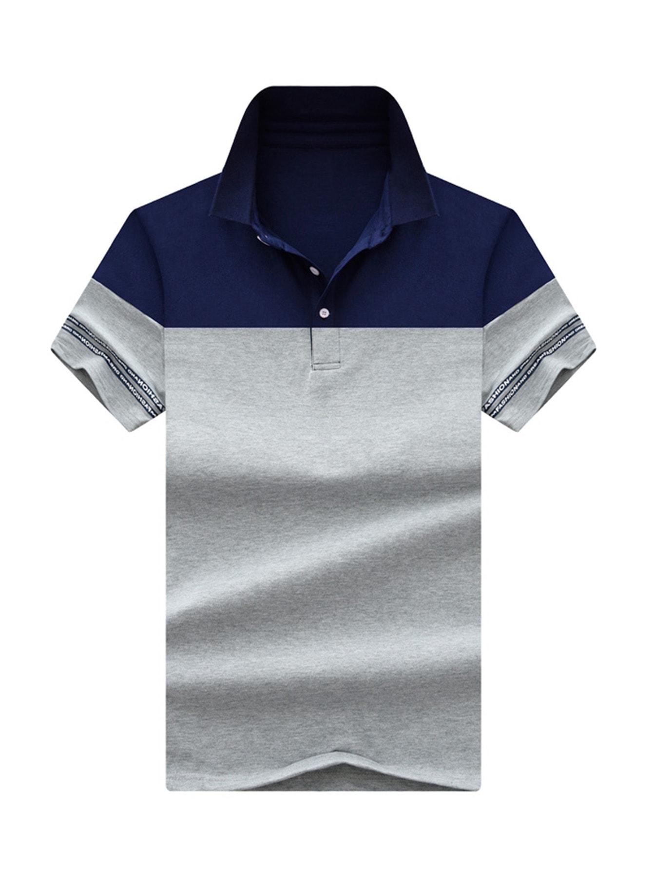 Мужская рубашка с полосками для мужчин, null, SheIn  - купить со скидкой