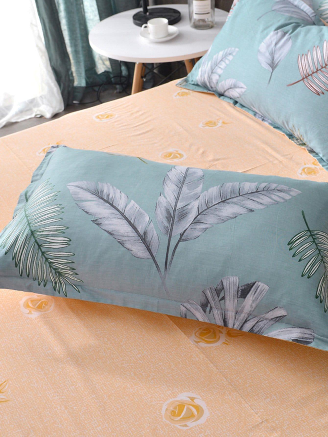 Kissenbezug 1 Paar mit Blatt Muster