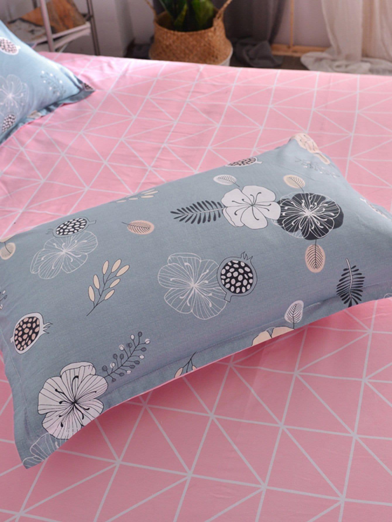 Kissenbezug 1 Paar mit Blumen Muster