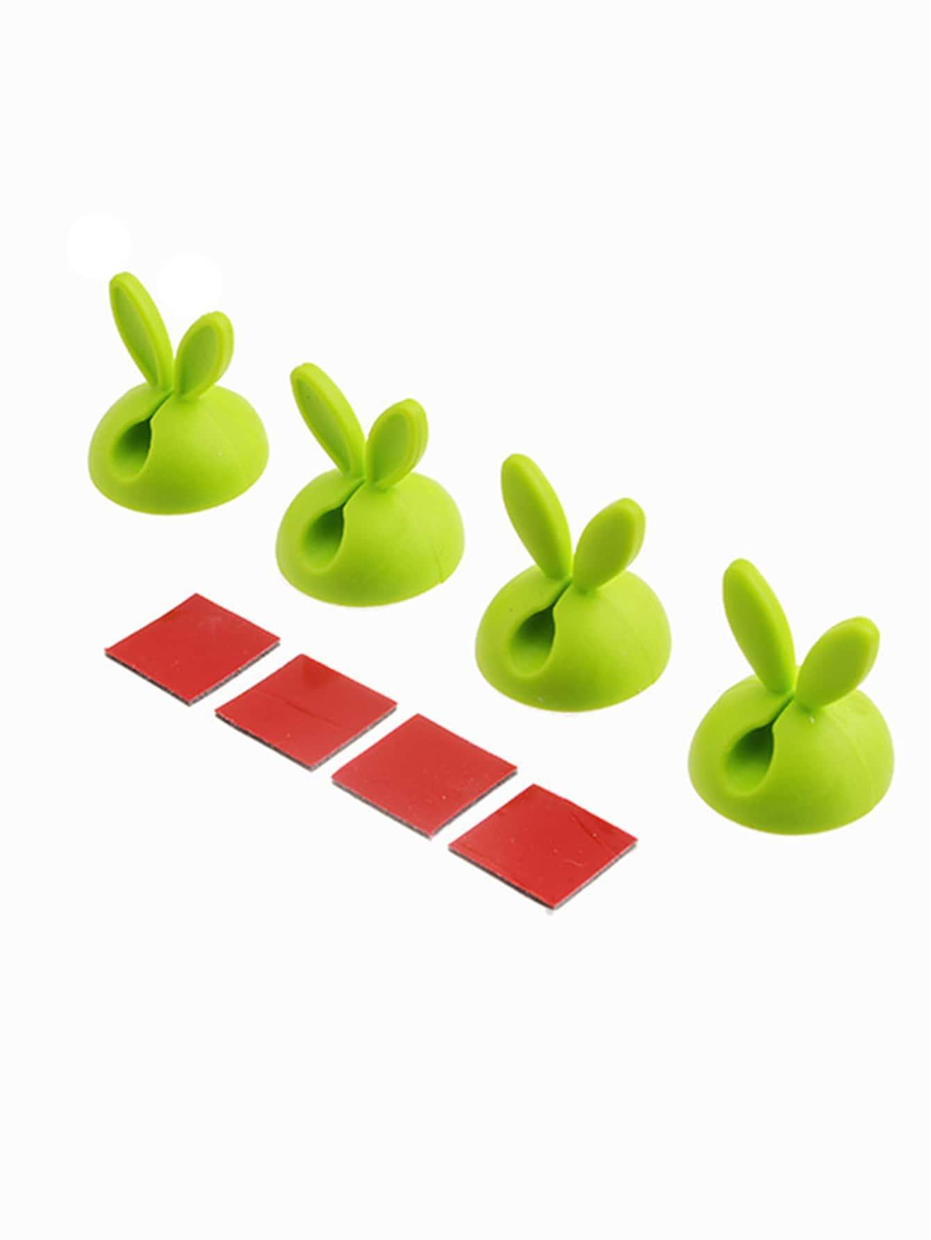 Купить Держатель для хранения с украшением уха кролика 4 шт, null, SheIn