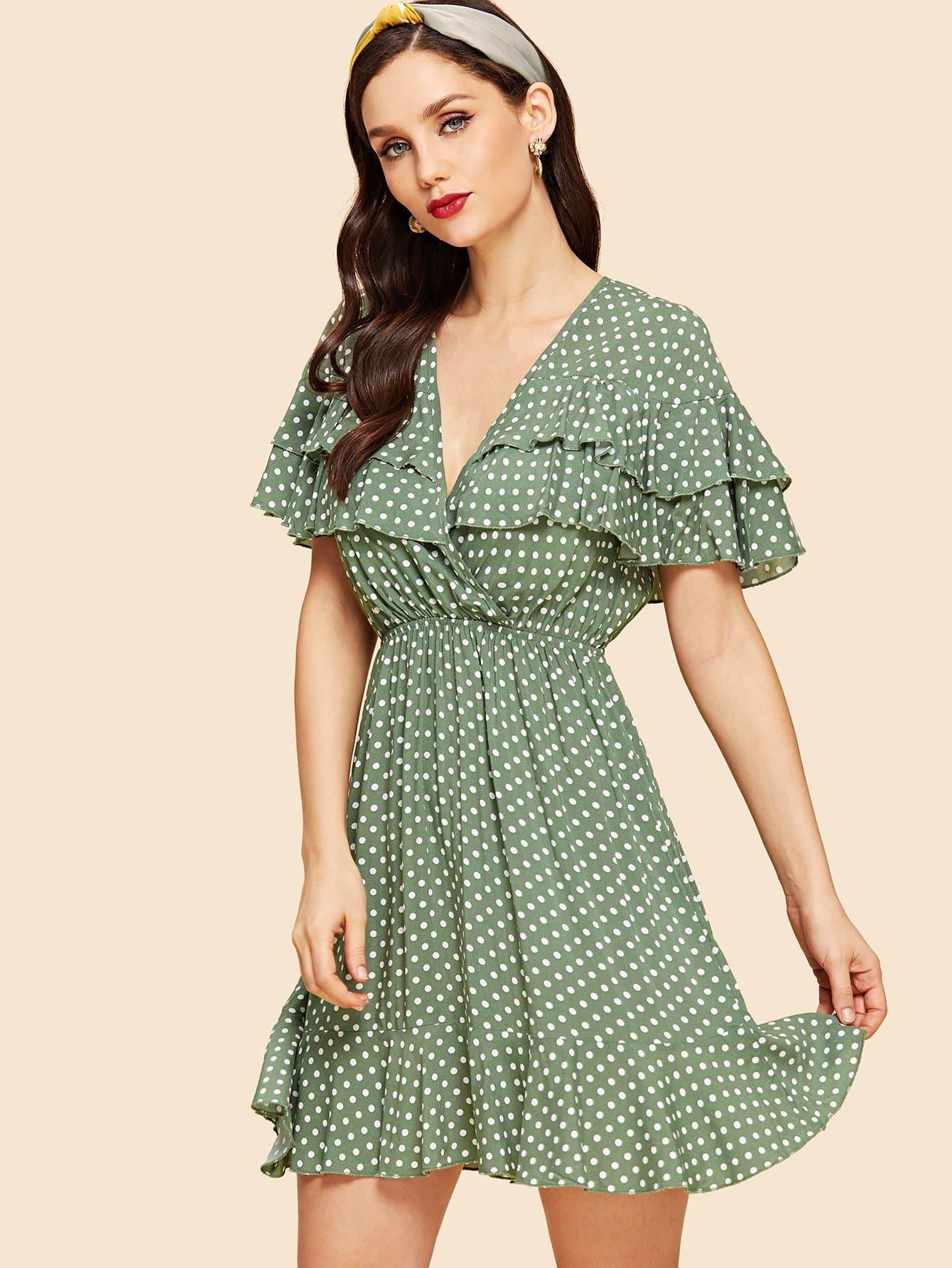 Платье с надписью Tayed Ruffle Dot
