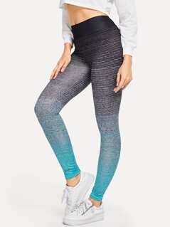 Wide Waistband Ombre Leggings