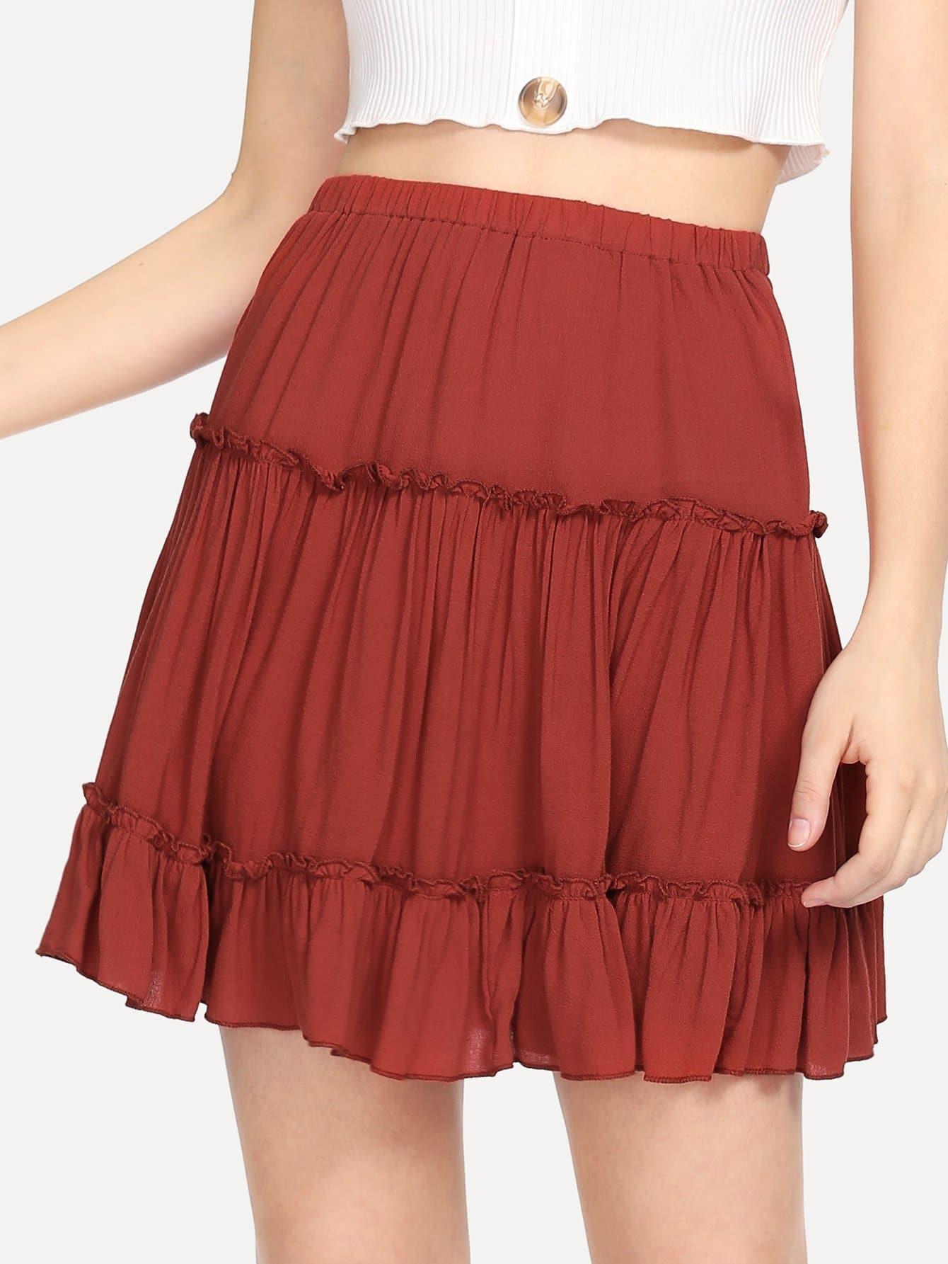 Купить Эластичная юбка с эластичной талией, Jana, SheIn