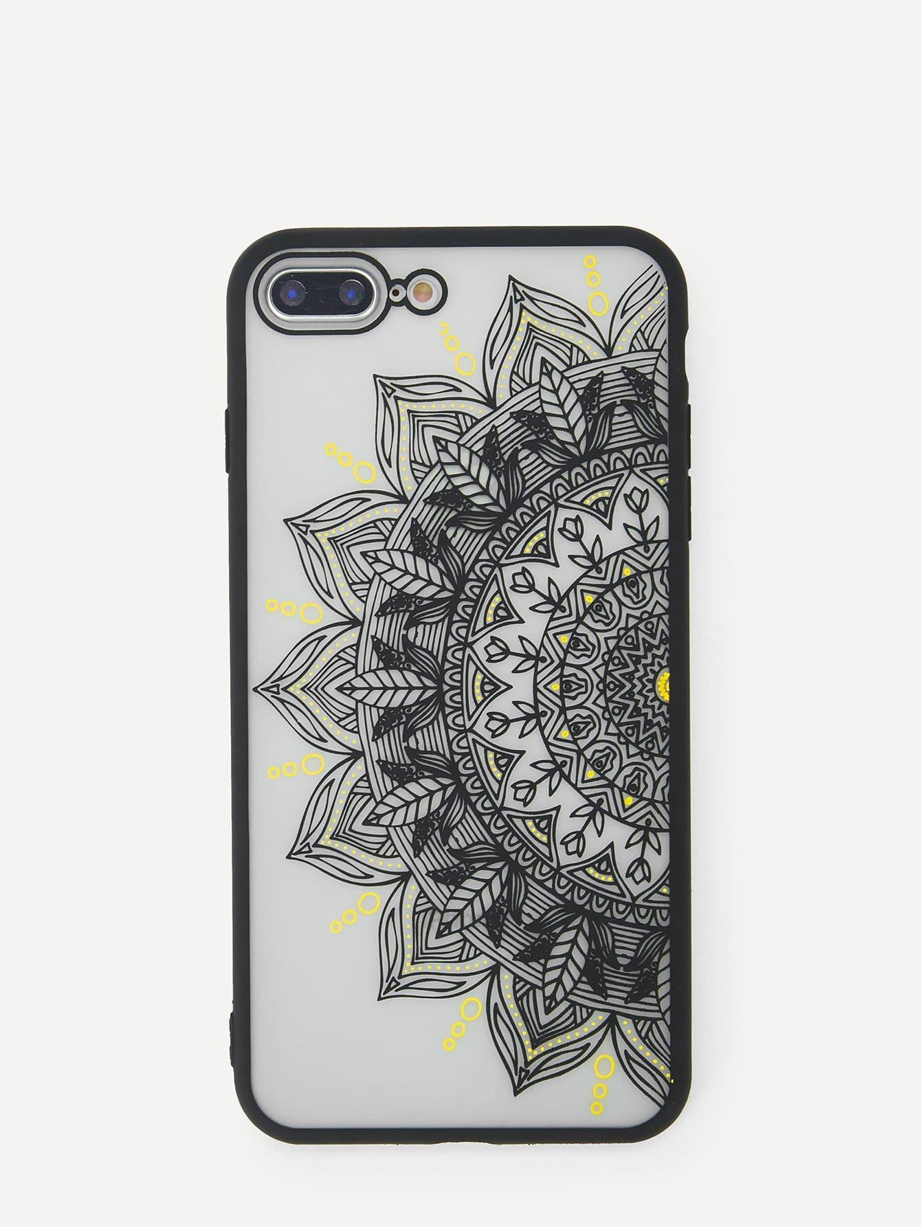 Купить Корпус сотового телефона для iPhone с рисунком ажурного кактуса, null, SheIn
